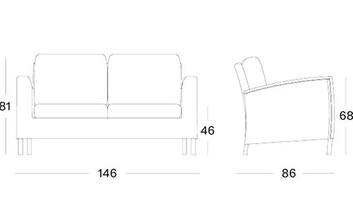 Safi lounge sofa