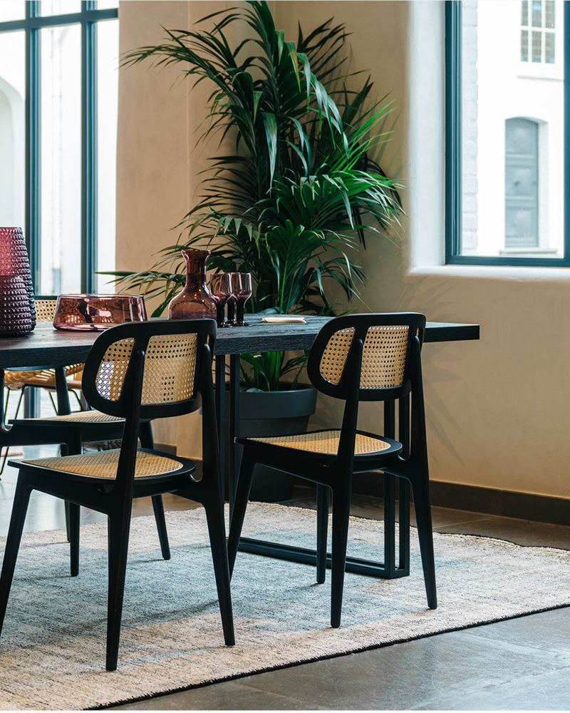 Titus dining chair and Achille dining table